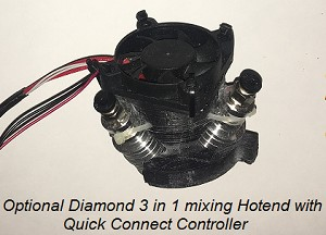 3 in 1 Diamond Hotend  with E3d Lite6 Heatsinks and Controller
